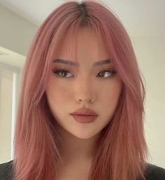 Hair Color Streaks, Hair Dye Colors, Hair Color Ideas, Hair Ideas, Two Color Hair, Blue Hair Highlights, Korean Hair Color, Hair Color Pink, Cool Hair Color