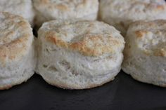 Buttermilk Buscuits.  This is very similar to the recipe I already use.  Mine calls for less butter and includes shortening, but I sometimes make them w/o shortening when I'm out.
