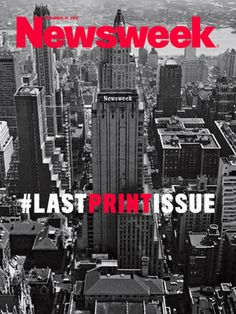 Newsweek unveils final print edition