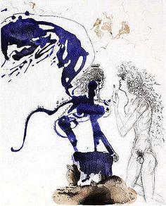 Salvador Dali, Edipus and the Sphinx