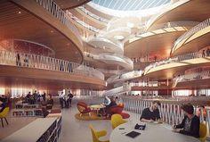 Stairway to heaven. 3XN Architects' proposal for Campus La Défense competition in Paris. . . . #aesthetica #studio #render #architecture #design #competition #architects #copenhagen #interior #staircase #atrium #interiordesign #3drender # visualization #3dsmax #vray #art #archilovers #architectureporn #architecturephotography #concept #instarender #paris #ladefense #office #france #archviz #mood #instamood #architettura