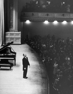 size: Premium Photographic Print: Pianist Vladimir Horowitz Receives Standing Ovation Upon Return to Concert Stage at Carnegie Hall by Alfred Eisenstaedt : Subjects Arthur Rubinstein, Vladimir Horowitz, Break, Standing Ovation, Concert Stage, Carnegie Hall, Music Aesthetic, Old Music, Good Vibes
