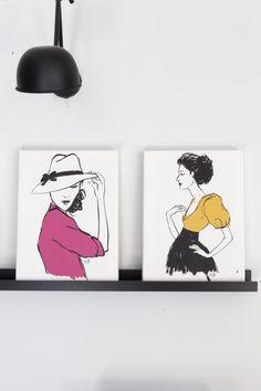 Le Bazar de Martine c'est découvrir l'horizon d'une créatrice fascinée depuis toujours par la mode et la décoration. Anne Sophie Perre puise son inspiration dans l'univers glamour des féminines des années 50 jusqu'à nos jours.