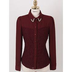 TLZC Venda Quente Coreano Roupas! charme Lady Chiffon Camisas Tamanho S-2XL Mulheres de Carreira Moda Blusa de Renda