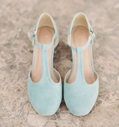 blue heels; love these!  Something blue (even though these look more of a greenish hue to me; will make sure mine are more blue if opt for blue shoes.)