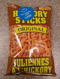 """There's also Hickory Sticks, which are unquestionably the best """"simulated potato sticks"""" on the market. Canadian French, Canadian Things, Canadian Food, Hickory Sticks, Potato Sticks, Nanaimo Bars, Retro Candy, Snack Recipes, Snacks"""