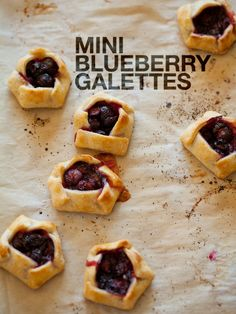 A recipe for Mini Blueberry Galettes with cream cheese shell. could use regular pastry dough instead.  super cute option to tarts - folding the crusts