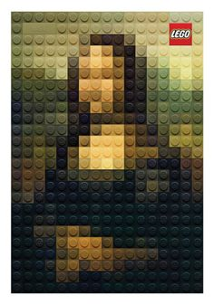 Designed by Marco Sodano for a Lego campaign that states all children can be authentic artists using LEGO's, these recreate some of histories most famous masterpieces. From Van Gogh's popular self portrait to Girl with a Pearl Earring by Joannes Vermeer, each image has been recreated as 17 x 25 lego pixel art pieces.