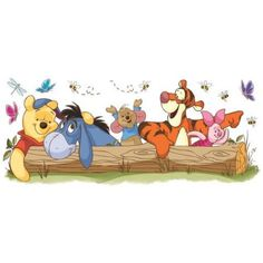 Winnie the Pooh Outdoor Fun Peel and Stick Giant Wall Decals, Assorted