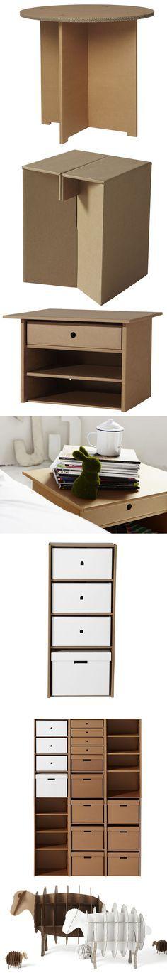 Muebles sencillos hechos a cartón
