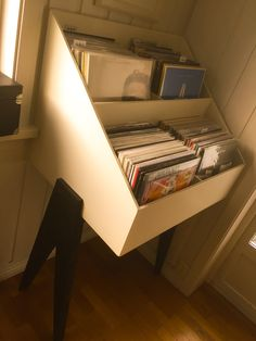 Record stand.