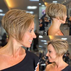 Medium Stacked Haircuts, Short Stacked Wedge Haircut, Short Wedge Hairstyles, Stylish Short Haircuts, Stacked Bob Hairstyles, Short Bob Haircuts, Short Hairstyle, Bob Haircut Back View, Bob Haircut For Fine Hair