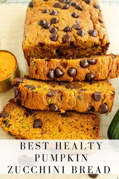 Best healthy pumpkin zucchini bread made with simple ingredients, sweetened naturally with honey and packed with the goodness of pumpkin and zucchini! It's the perfect summertime pumpkin bread for all you pumpkin lovers out there! #zucchinibread #pumpkinbread #pumpkizucchinibread #wholewheat #honey #breakfast #snack #baking #pumpkinspice #pumpkineverything #naturallysweet #onceuponapumpkin Pumpkin Zucchini Bread, Healthy Pumpkin Bread, Zucchini Bread Recipes, A Pumpkin, Healthy Pumpkin Desserts, Healthy Zucchini Bread, Health Desserts, Bon Dessert, Dessert Recipes