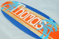 Beach Nursery Decor, Surfboard Wall Art, Beach Theme 18 inch Boys Surf Board Surfing Sign on Etsy, $40.00