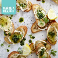 These scrumptious grilled Goat's Cheese Bruschetta's made with our NoMU One for All Grinder make for a great appetizer when entertaining but they are also ideal when served as a midday snack or as part of a light lunch!   A perfect all purpose seasoning Goat's Cheese Bruschetta 1 French