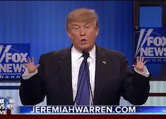 Trump Shows Off His Big Hands