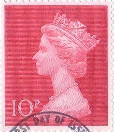 Definitive 10p Stamp (1970) Cerise