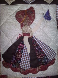 My Sunbonnet girls. Patricia Lewandowski Patchwork Favorite Depression era pattern for quilts that is still popular today. Quilt Block Patterns, Applique Patterns, Applique Quilts, Applique Designs, Quilt Blocks, Sewing Patterns, Hand Applique, Doily Patterns, Sunbonnet Sue