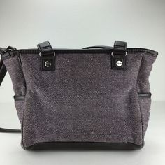 ca9aa33232b1 Thirty One Mini Cindy in Plum Tweed Purse Crossbody Handbag