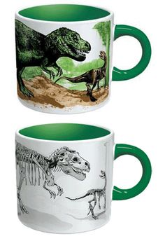 Disappearing Dinosaurs Heat Sensitive Mug