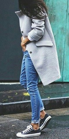 Fall / winter trends - Blasers color azul marino - Best Of Women Outfits Mode Outfits, Casual Outfits, Fashion Outfits, Womens Fashion, Travel Outfits, Fashion 2018, Ladies Fashion, Fasion, Fashion Ideas