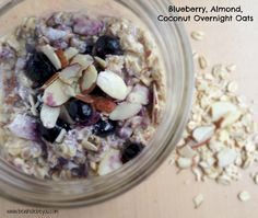 Blueberry, Coconut, Almond Overnight Oats. Simple and healthy, but you won't believe it!