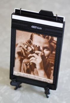 large format film holder to photo frame.