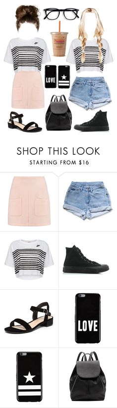 """""""Same Shirt Two Ways"""" by kaitydidwhat ❤ liked on Polyvore featuring See by Chloé, Levi's, NIKE, Converse, Dorothy Perkins, Givenchy and Witchery"""