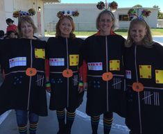 teachers dressed as Math monsters with a different number each, and different 4 teachers dressed as Math monsters with a different number each, and different . teachers dressed as Math monsters with a different number each, and different . Halloween Costumes For Teachers Easy, Partner Halloween Costumes, Doctor Halloween Costume, Team Costumes, Halloween Costumes For Work, Book Costumes, Teacher Costumes, Theme Halloween, Costume Ideas