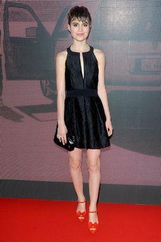 Cannes 2013 velvet looks super chic in a cute black halter dress
