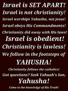 "And an Israel that rejects Jesus Christ is as defiled as defiled can be in the eyes of OMNI3perYHV+VHYinChrist+Jesus!+!...funny how the Talmudic hypocrites find issues with ""Jesus Christ"" (=Y'shua the only True Messiah) & not w/ use of  ""Israel"" instead of ""Yisroel""!+!HEAR O ISRAEL...!+!"