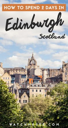 Here's all the best things to do in Edinburgh, Scotland if you're only planning to travel through for 2 days or a weekend. #edinburgh #scotland
