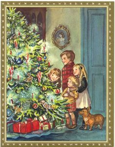 Tasha Tudor .@@@@@.....http://www.pinterest.com/jennifergbrock/vintage-christmas-images-art-illustration-that-evo/