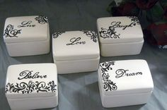 Food for thought on this keepsake box set from Etsy seller GrapevineCeramicsGft #dteam