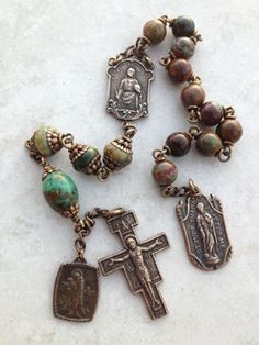 All Beautiful Catholic Beads: Gallery of Past Tenners - Lourdes, Sts Francis & Jude Tenner