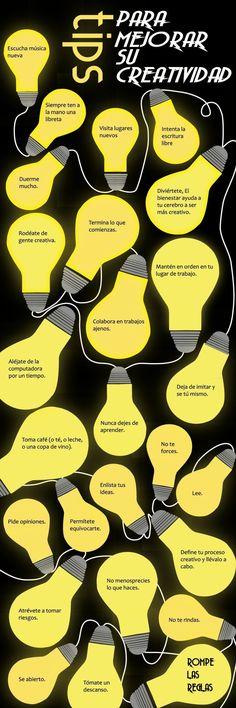 mantenerse creativo Más #infografias #infographic