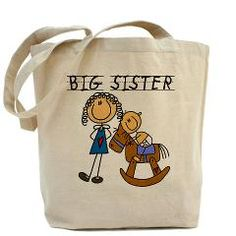 Big Sister, Little Brother Tote Bag> Big Sister WIth Little Brother T-shirts and Gifts> Stick Figure Shop