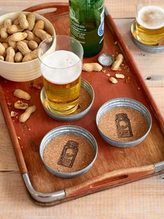 These mason jar lid coasters are so easy to make. Men will love receiving these as presents because they will go perfectly with their cold bottles of beer.
