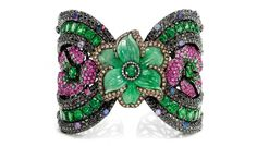 Wendy Yue   6 Stunning Pieces of Statement Jewelry.  This bracelet is too busy for me but it's magnificent.