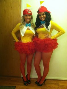 Cute costume idea Tweedle Dee and Tweedle Dumb