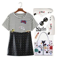 """SheIn street mode"" by gabygirafe ❤ liked on Polyvore featuring Bottega Veneta, outfit, Sheinside, whiteshoes and shein"