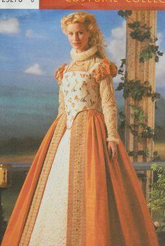 Simplicity Pattern 8881 Elizabethan Medieval Dress Sz 6-12 Theatre Costume UNCUT #Simplicity #Dress