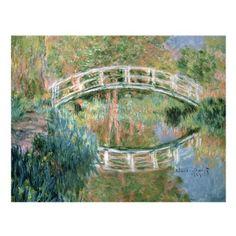 The Japanese Bridge Giverny Canvas Art by Claude Monet | Hayneedle