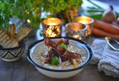 Food Inspiration, Bacon, Rice, Dinner, Ethnic Recipes, Mad, Eten, Dining, Food Dinners