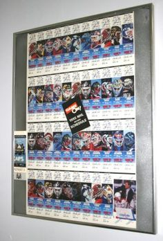 "1994-1995 CAPITALS HOCKEY TICKETS : Lot 307    Uncut full set; (2) Face-off tickets; framed; together with a second set of framed hockey tickets; 22"" x 13"", VG-EX"