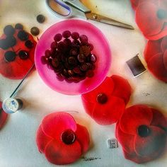 Anzac/Anzac Day/NZ/Lake House Arts Centre/Poppy/Poppies/Craft/Handmade