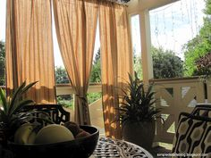 Love these outdoor drapes!