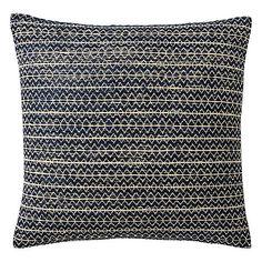 Buy west elm Silk Stacked Diamonds Cushion, Nightshade Online at johnlewis.com