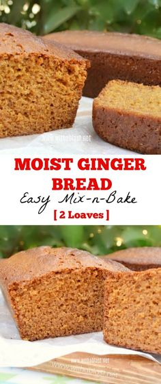 Mix-n-Bake recipe for 2 Ginger Bread loaves as 1 is simply not enough ! Moist, soft and divine !