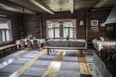Iso mökki loman viettoon Iso, Interior And Exterior, Scandinavian, Buildings, Childhood, Dining Table, Cabin, Interiors, Future